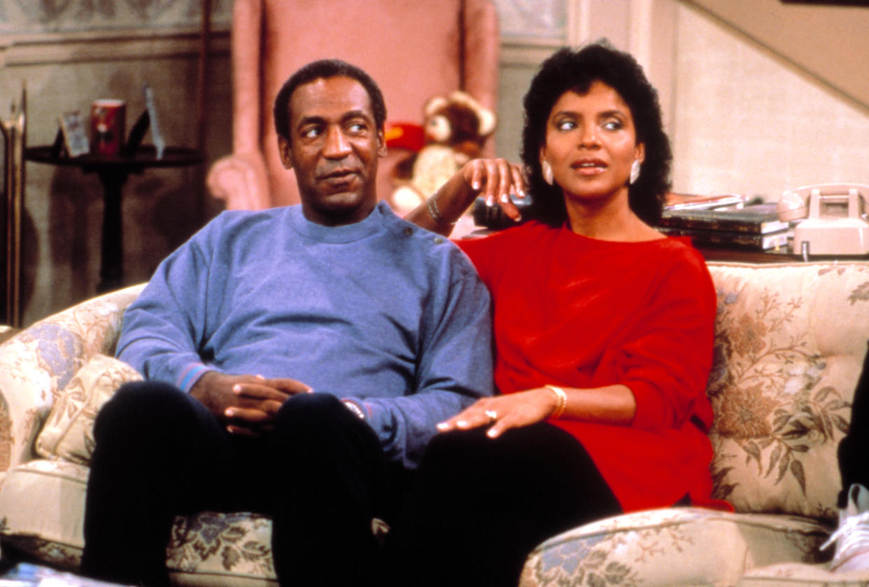 Bill Cosby and Phylicia Rashad co-star in a 1984 episode of The Cosby Show.