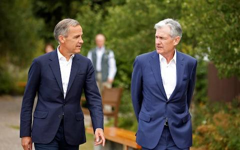 Mark Carney and Jerome Powell
