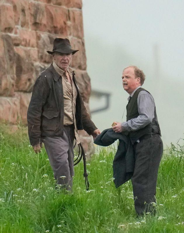 Harrison Ford on the set of Indiana Jones earlier this month (Photo: Stuart Wallace/Shutterstock)