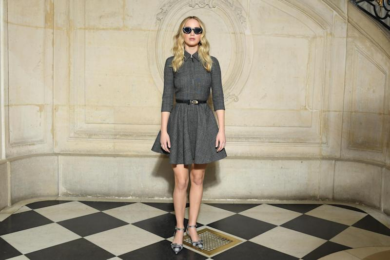 Jennifer Lawrence at the Christian Dior AW 19/20 show (Getty Images)