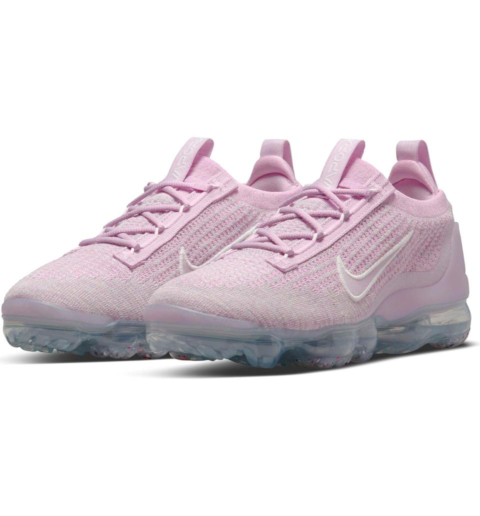 <p>These <span>Nike Air VaporMax 2021 FK Sneaker</span> ($200) have extra comfort cushioning that absorbs impact and distributes weight evenly. Flyknit upper wraps your foot like a sock for a natural, snug fit that flexes with every movement.</p>