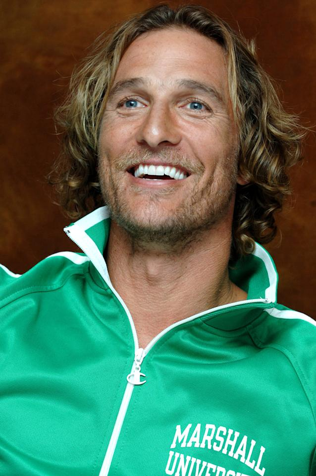 Matthew McConaughey at a Beverly Hills press conference.