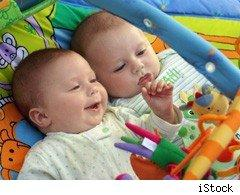 babies on baby gym