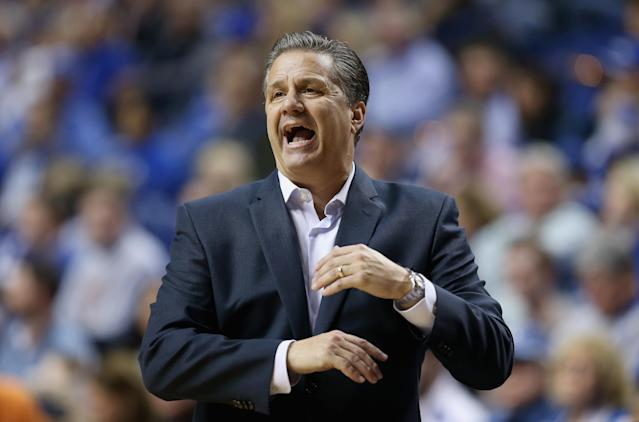 You can always expect drama from John Calipari and Kentucky. (Getty)
