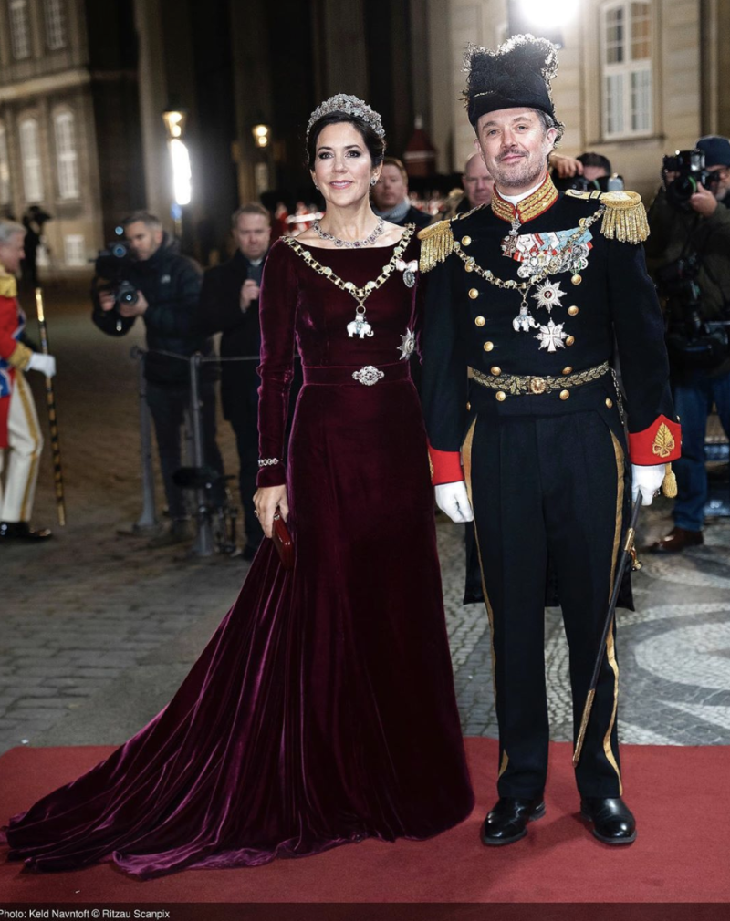 Princess Mary of Denmark Rewears Velvet Dress for the Fourth Time