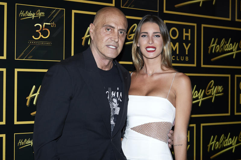 MADRID, SPAIN - JULY 05: Kiko Matamoros and Marta Lopez Alamo attend 'Holiday Gym' 35th anniversary party on July 05, 2019 in Madrid, Spain. (Photo by Carlos Alvarez/Getty Images)