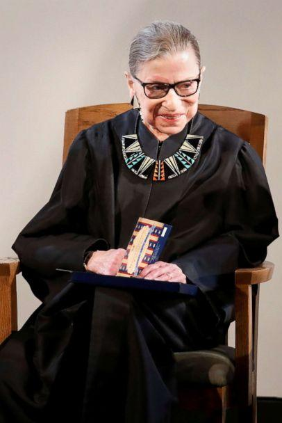 PHOTO: Associate Justice of the U.S. Supreme Court Ruth Bader Ginsburg attneds a U.S. Citizenship and Immigration Services (USCIS) naturalization ceremony at the New York Historical Society Museum and Library in Manhattan, New York, April 10, 2017. (Shannon Stapleton/Reuters)