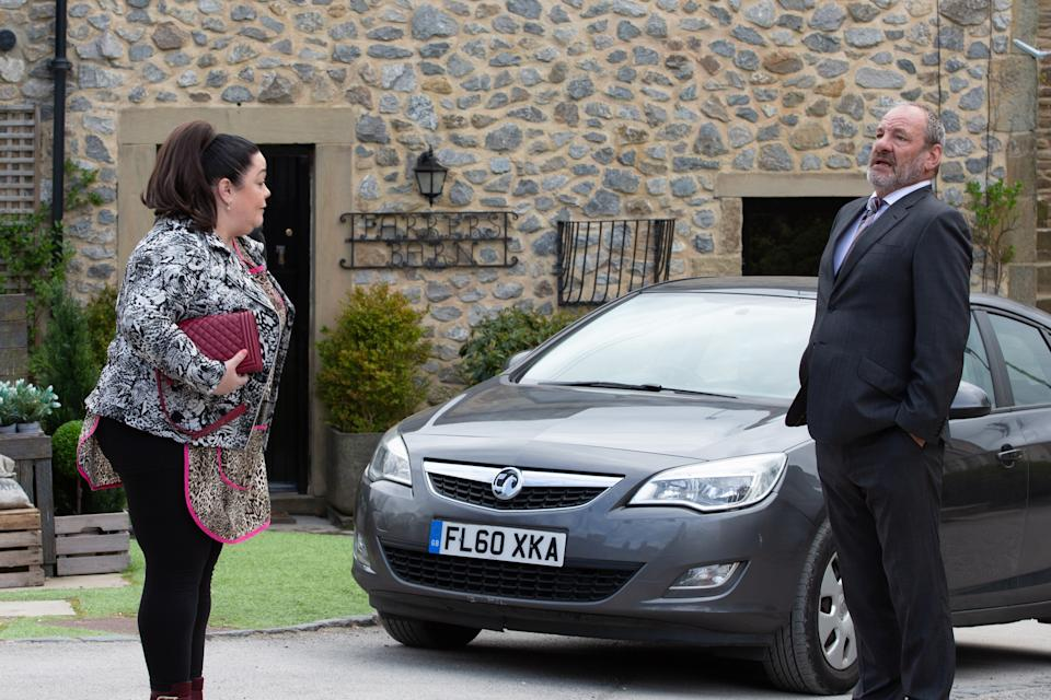 FROM ITV  STRICT EMBARGO  Print media - No Use Before Tuesday 1st June 2021 Online Media - No Use Before 0700hrs  Tuesday 1st June 2021  Emmerdale - Ep 9067  Tuesday 8th June 2021  When Jimmy gets home it's clear that he and Nicola are further estranged than ever and Jimmy KING [NICK MILES] can't help but return to see supportive Mandy DINGLE [LISA RILEY] where he tells her his feelings run deeper than friendship. Mandy's gobsmacked reaction leaves him immediately regretful.   Picture contact David.crook@itv.com   This photograph is (C) ITV Plc and can only be reproduced for editorial purposes directly in connection with the programme or event mentioned above, or ITV plc. Once made available by ITV plc Picture Desk, this photograph can be reproduced once only up until the transmission [TX] date and no reproduction fee will be charged. Any subsequent usage may incur a fee. This photograph must not be manipulated [excluding basic cropping] in a manner which alters the visual appearance of the person photographed deemed detrimental or inappropriate by ITV plc Picture Desk. This photograph must not be syndicated to any other company, publication or website, or permanently archived, without the express written permission of ITV Picture Desk. Full Terms and conditions are available on  www.itv.com/presscentre/itvpictures/terms