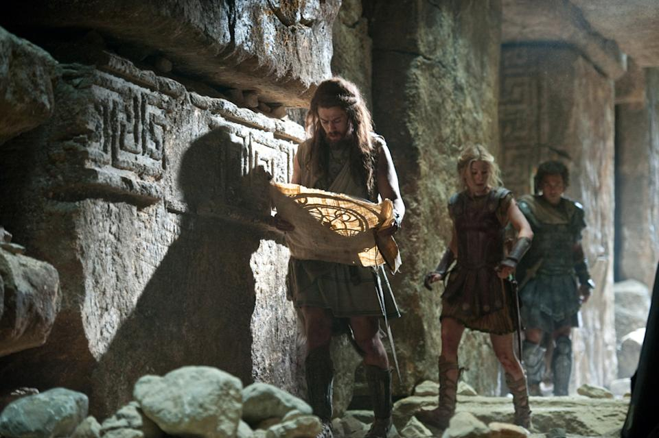 "Toby Kebbell, Rosamund Pike and Sam Worthington in Warner Bros. Pictures' <a href=""http://movies.yahoo.com/movie/wrath-of-the-titans/"" data-ylk=""slk:Wrath of the Titans"" class=""link rapid-noclick-resp"">Wrath of the Titans</a> - 2012"
