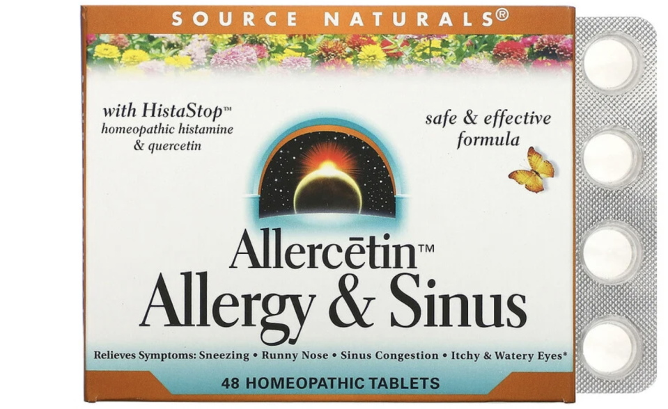 Source Naturals, Allercetin, Allergy & Sinus, 48 Homeopathic Tablets. PHOTO: iHerb