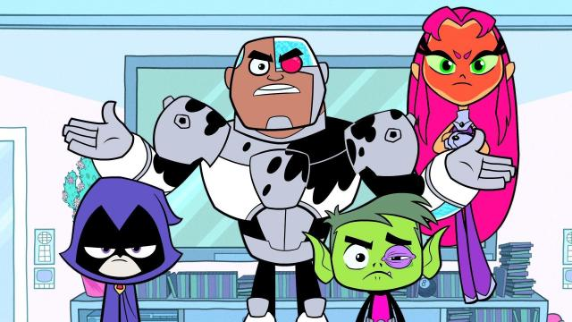 Raven, Cyborg, Beast Boy, and Starfire (Photo: Cartoon Network)