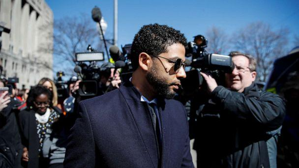 PHOTO: Jussie Smollett leaves court after charges against him were dropped by state prosecutors in Chicago, March 26, 2019. (Kamil Krzaczynski/Reuters)