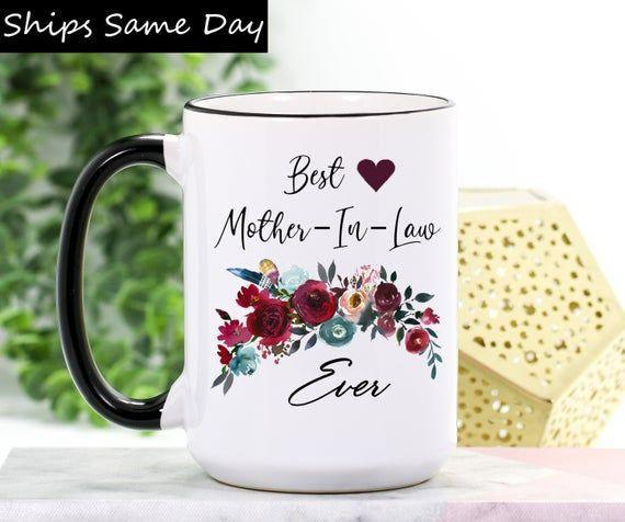 "<p><strong>WimlyMugs</strong></p><p>etsy.com</p><p><strong>$18.99</strong></p><p><a href=""https://go.redirectingat.com?id=74968X1596630&url=https%3A%2F%2Fwww.etsy.com%2Flisting%2F676833740%2Fmother-in-law-mug-mother-in-law-gift&sref=https%3A%2F%2Fwww.womansday.com%2Flife%2Fg19843084%2Fgifts-for-mother-in-law%2F"" rel=""nofollow noopener"" target=""_blank"" data-ylk=""slk:Shop Now"" class=""link rapid-noclick-resp"">Shop Now</a></p><p>This ceramic mug is like the classic ""World's Best Mother-in-Law"" mug, but a whole lot cuter. </p>"