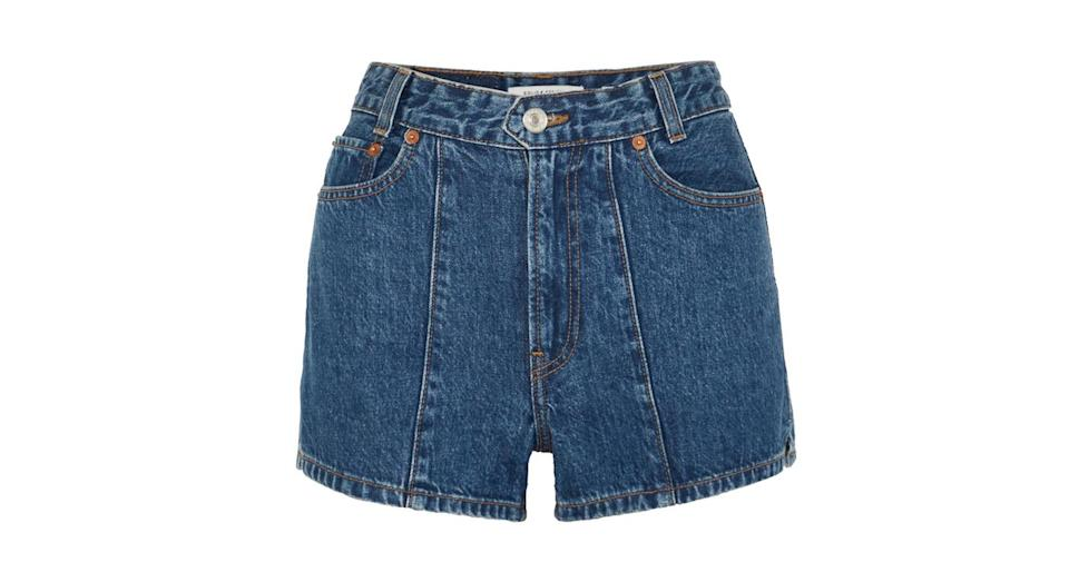 """<p>Denim shorts are having a real moment this summer and we adore this high-waisted pair from SOLID & STRIPED.<br><a rel=""""nofollow noopener"""" href=""""https://www.net-a-porter.com/gb/en/product/1078635/solid___striped/--re-done-the-venice-denim-shorts"""" target=""""_blank"""" data-ylk=""""slk:Buy here."""" class=""""link rapid-noclick-resp"""">Buy here.</a> </p>"""