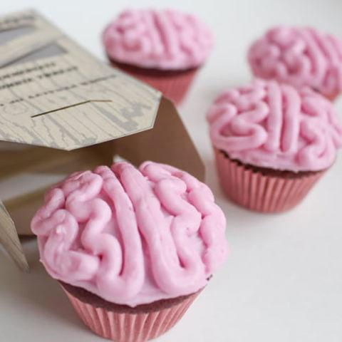 """<p><span>These brain cupcakes only <em>look</em> icky. And you can always tell the kids they're *zombie* brains. </span></p><p><strong>Get the recipe at <a rel=""""nofollow"""" href=""""https://brendid.com/all-natural-zombie-brain-cupcakes/"""">Bren Did</a>. </strong></p>"""
