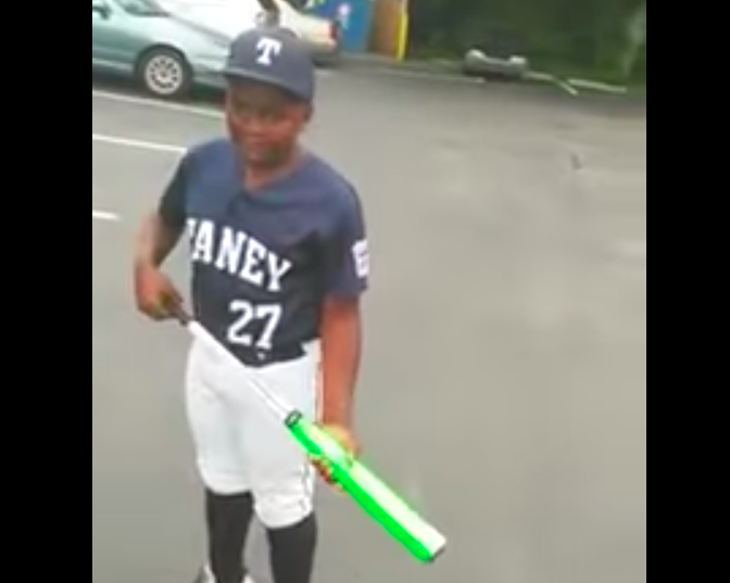Kid who was pranked by dad with birthday bat hits home run