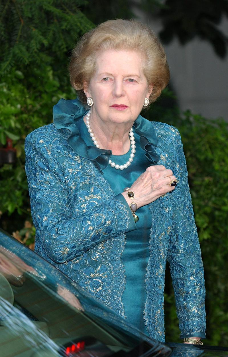 Margaret Thatcher Attends David Frost's annual summer party in Chelsea in 2004 [Photo: Getty]