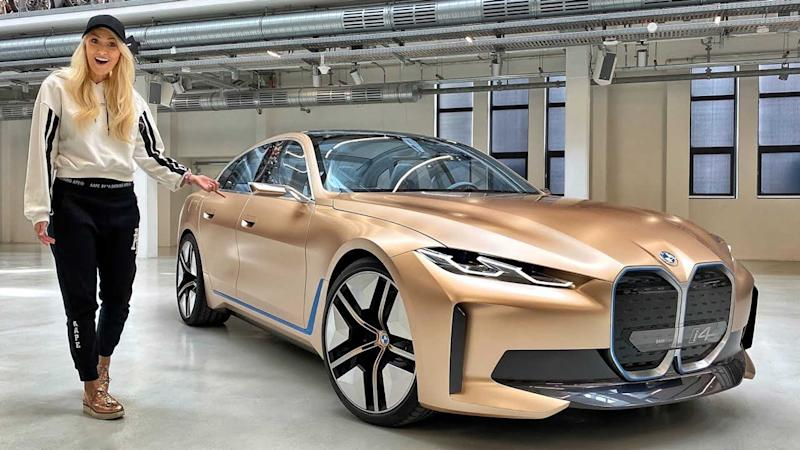 BMW Concept i4 walkaround video lead image