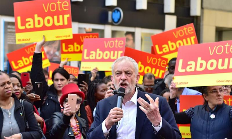 Jeremy Corbyn delivers a speech to Labour activists in Croydon.