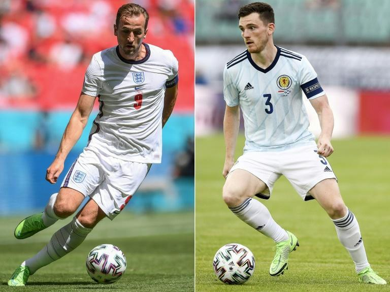 Old enemies: England face Scotland for just the second time at a major tournament on Friday