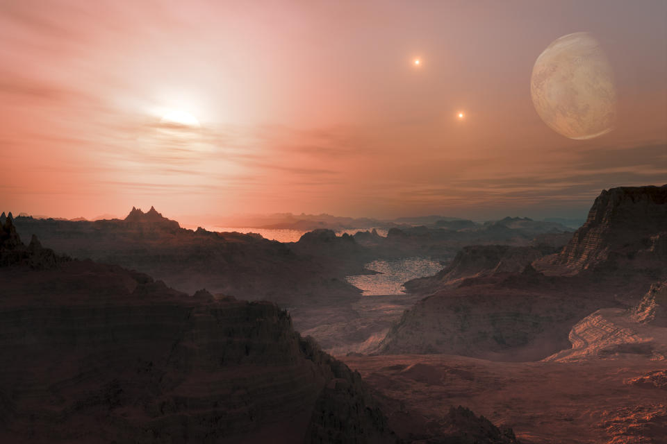 Fantasy Alien Exo Planet isolated galaxy space