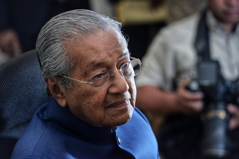 Tun Dr Mahathir Mohamad speaks to reporters during a press conference at Al-Bukhary Foundation in Kuala Lumpur April 19, 2019. — Picture by Shafwan Zaidon