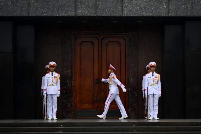 The guards are chosen for their physical stamina, communist party dedication, and easy-on-the-eyes appearance