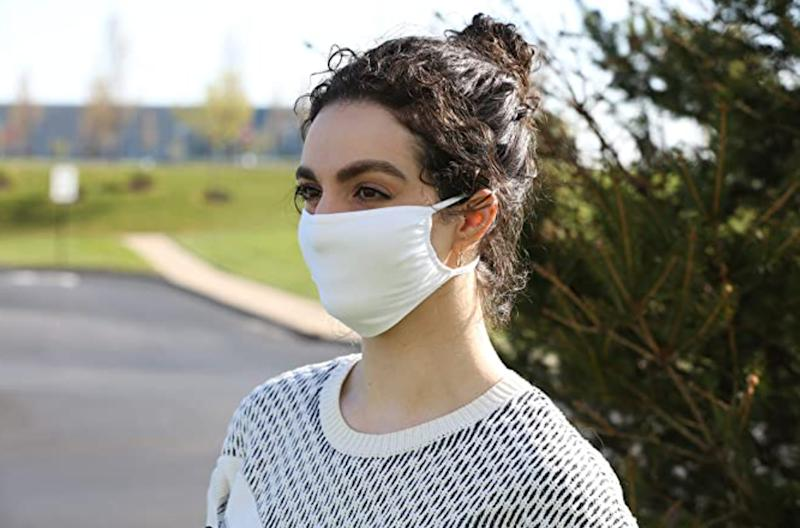 The masks feature a special antibacterial coating. (Photo: Amazon)