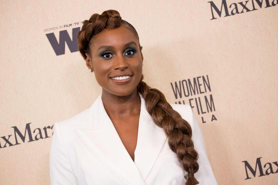 <p>Actress <strong>Issa Rae </strong>clearly has a love for dramatic hair. This gorgeous amber fishtail braid is regal and <em>anything </em>but awkward.</p>
