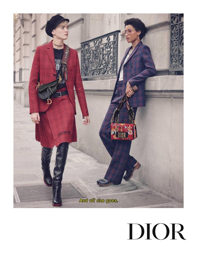 <p><strong>Models:</strong> Ruth Bell and Lineisy Montero <br><strong>Photographer:</strong> Pamela Hanson <br>(Photo: Courtesy of Dior) </p>