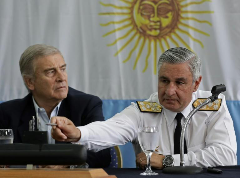 Admiral Jose Villan (R), the Argentinian navy's new head, explained that the particular relief of the seabed had complicated its discovery