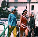 <p>Sister, sister! Jackie Kennedy and Lee Radziwill both had impeccable style in the '60s. File this under how to wear a headscarf in the daytime.</p>