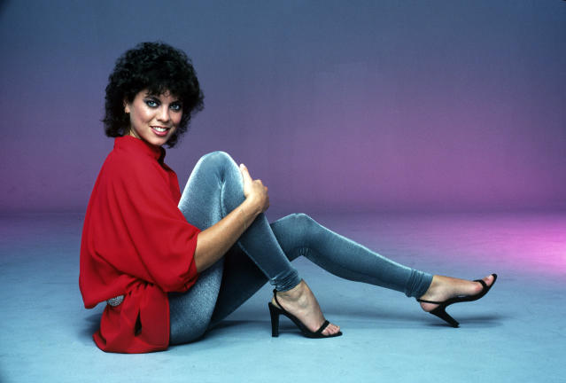 "<p>The perennially bright-eyed <a href=""https://www.yahoo.com/entertainment/happy-days-star-erin-moran-dies-56-012117080.html"" data-ylk=""slk:Happy Days star died;outcm:mb_qualified_link;_E:mb_qualified_link"" class=""link rapid-noclick-resp newsroom-embed-article""><em>Happy Days</em> star died</a> of throat cancer on April 22. Having left acting after roles dried up, she passed away at her home in a trailer park in Corydon, Ind. She was 56. (Photo: Getty Images) </p>"