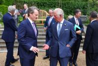 Britain's Prince Charles hosts business CEOs ahead Of G7 Summit at St James Palace, in London
