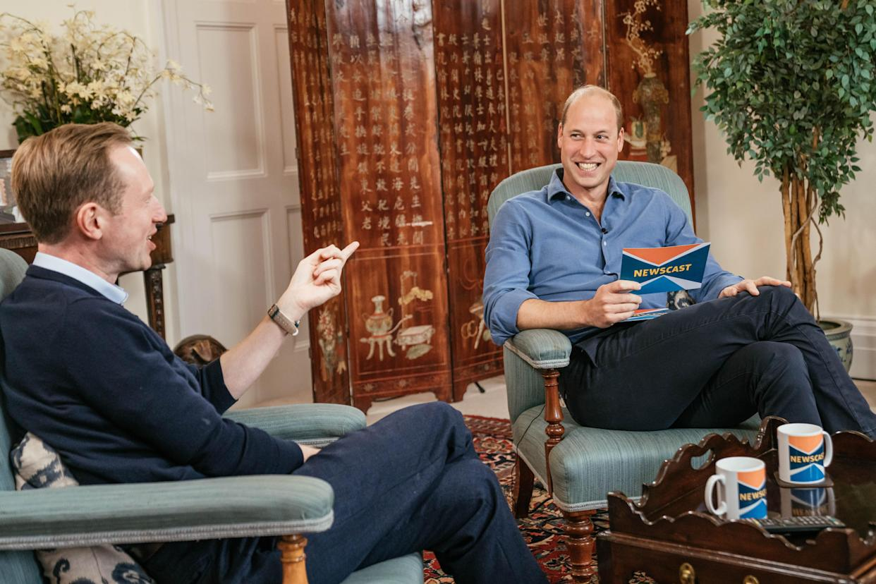 The Duke of Cambridge during his BBC Newscast interview