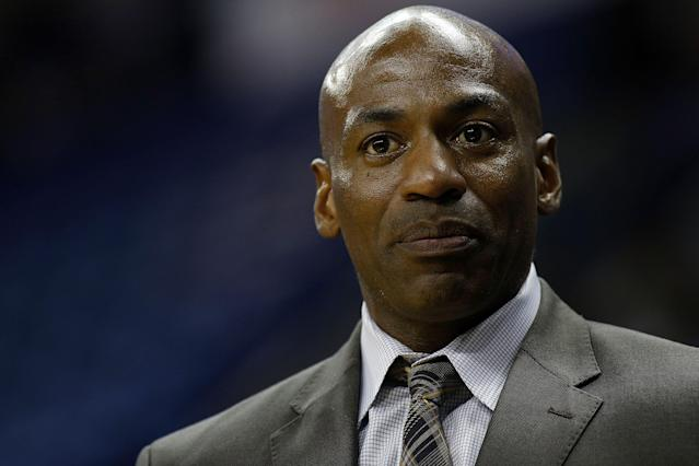 "New Orleans Pelicans GM Dell Demps cited ""integrity of the game"" as the reason to play Davis. (Getty)"