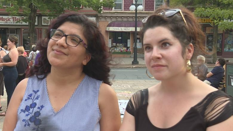 Fredericton residents rally to protest 'hateful views against humanity'