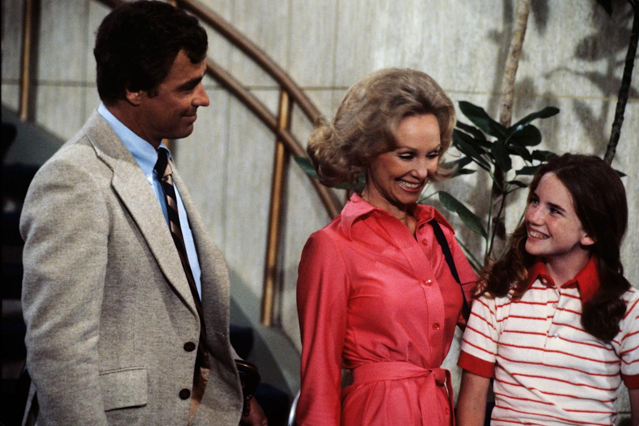 "Guest stars Ed Winter, Maria Adams, and Melissa Gilbert in ""The Love Boat"" episode, ""Julie's Dilemma/Who's Who/Rocky."""
