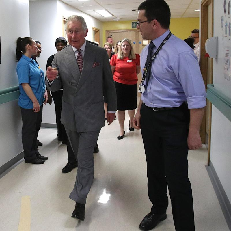 Prince Charles tours King's College Hospital on Friday afternoon - Credit: Yui Mok/PA