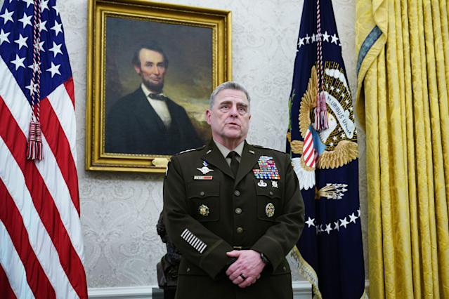Chairman of the Joint Chiefs of Staff Gen. Mark Milley. (Mandel Ngan/AFP via Getty Images)