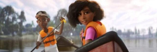 """Screenshot from the Pixar animated short """"Loop"""" which features a nonverbal autistic girl."""