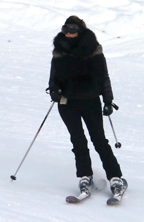 Kim Kardashian And Kanye West Head Home After New Year Ski Break