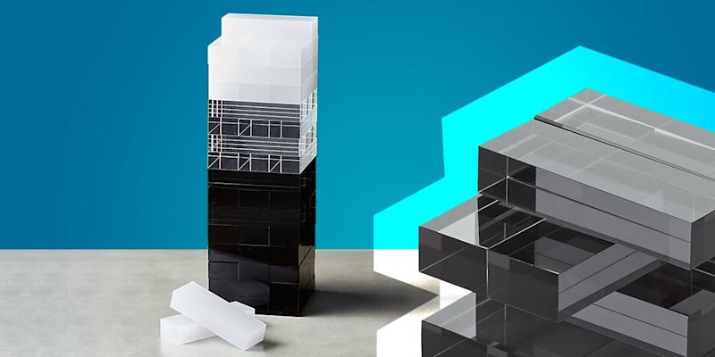 """""""Whaddya wanna do now?"""" is an all-too-familiar phrase heard when hibernating at home in the dead of winter. Keep a mindless game that doubles as decor out on display, and never die of boredom again. SHOP NOW: Acrylic tumbling tower by CB2, $69, cb2.com"""