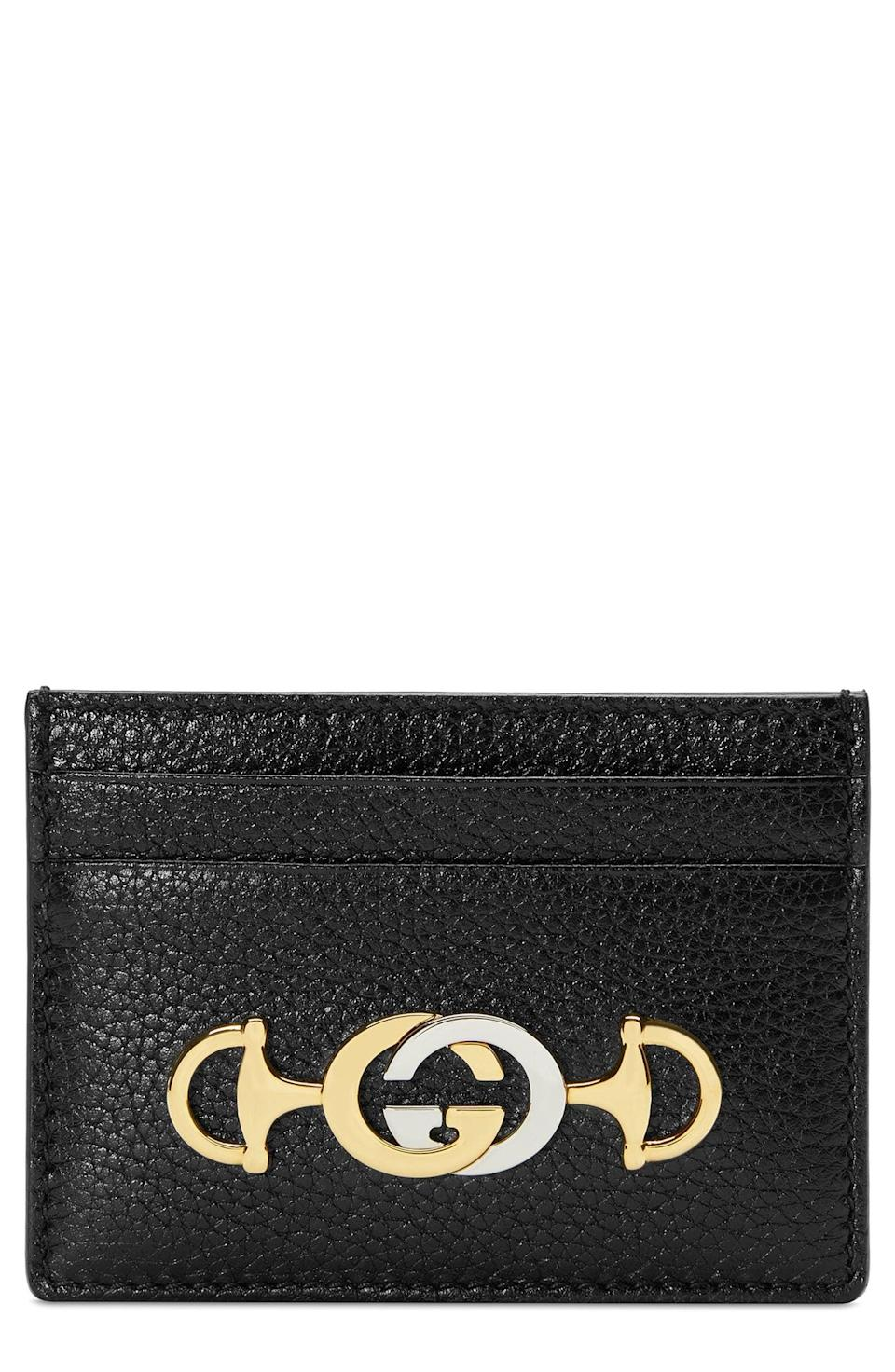 <p>Stepping out for a quick run? This <span>Gucci 463 Leather Card Case</span> ($310) got you covered.</p>