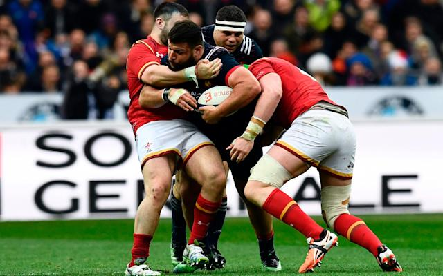 <span>Wales weren't happy about Rabah Slimani's reintroduction</span> <span>Credit: Getty images </span>