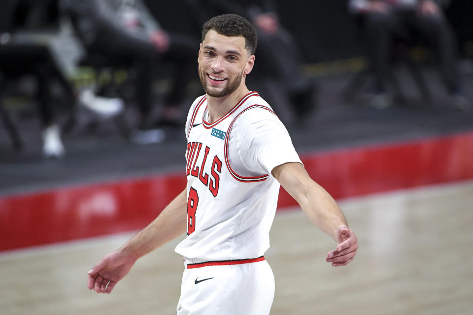 The Chicago Bulls made a handful of free agency moves to surround All-Star Zach LaVine with talent. (Nic Antaya/Getty Images)