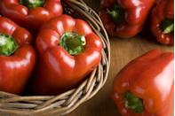 "<p>Red bell peppers help reduce high blood pressure with the help of potassium and <a href=""https://www.prevention.com/food-nutrition/g21288692/vitamin-a-foods/"" rel=""nofollow noopener"" target=""_blank"" data-ylk=""slk:vitamin A"" class=""link rapid-noclick-resp"">vitamin A</a>. They're also high in fiber and vitamin C, making it a healthy snack with hummus. </p><p><strong>Try it:</strong> If your peppers going bad in the fridge, broil them with some olive oil or add them to scrambled eggs or a <a href=""https://www.prevention.com/food-nutrition/a22750128/chicken-and-broccoli/"" rel=""nofollow noopener"" target=""_blank"" data-ylk=""slk:stir-fry"" class=""link rapid-noclick-resp"">stir-fry</a>.<br></p>"