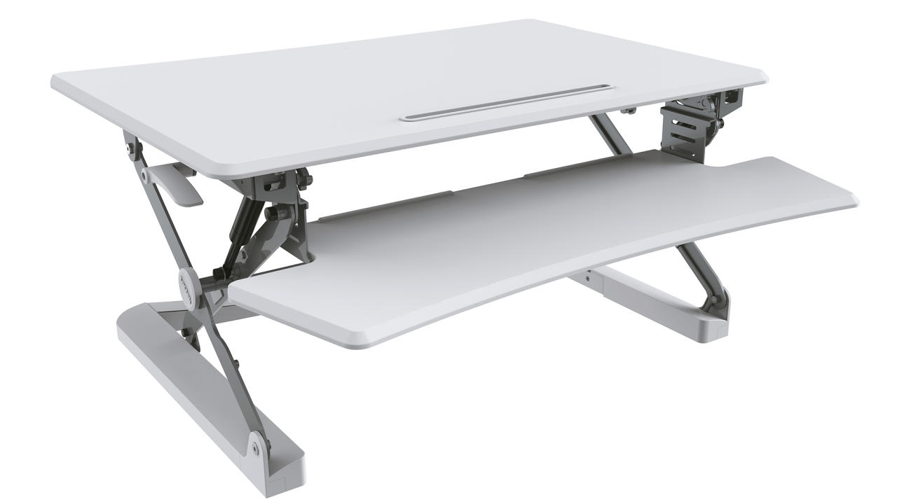 <p>Improve your standing in the business world with a Professional Sit Stand Desk ($299) that will give you a fresh perspective on your daily business! The adjustable desk allows you to change up your position throughout the day, which comes with a multitude of health benefits but will also give you whole new way of seeing the world and your work. Set it up on top of your desk or table and adjust the height to suit your needs and see what fresh ideas occur to you thanks to your new, flexible way of working. </p>