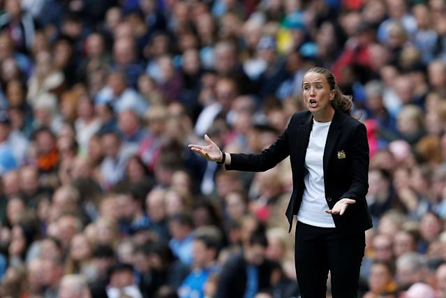 Manchester United manager Casey Stoney Action Images via Reuters/Craig Brough
