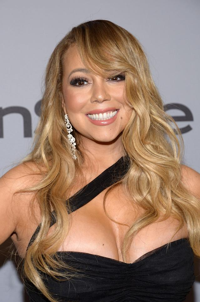 Mariah Carey has shared her unusual beauty secret: milk baths. (Photo: TARA ZIEMBA/AFP/Getty Images)